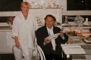 Klausjürgen Wussow - Schauspieler - mit Annerose Könneke - Porzellanmalerin
