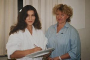 Eva Mattes - Schauspielerin - mit Annerose Könneke - Porzellanmalerin