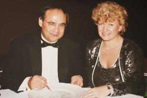 Herbert Klein - ARD Sportreporter - mit Annerose Könneke - Porzellanmalerin