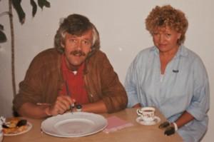 Carlo von Tiedemann - Schauspieler & Moderator - mit Annerose Köneke - Porzellanmalerin